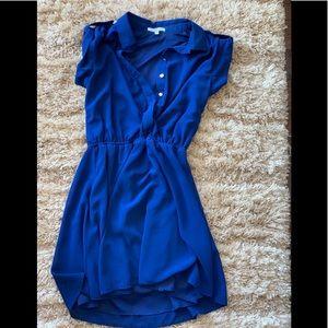 Sleeveless Navy Charolette Russe Dress